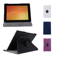 Wholesale S5Q Rotating Stand Case PU Leather Cover For Sony Xperia Tablet Z2 AAADQN