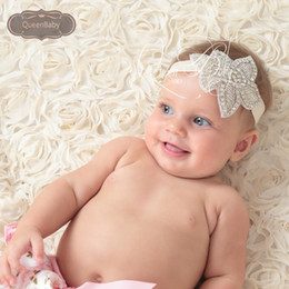 Baptism Headband Baby Girl Bling Crystal Rhinestone Headbands Newborn Christening Headband Baby Headbands Queenbaby 10pcs lot