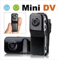 Wholesale Hidden Cam Mini DV DVR Sports Video Camera Spy Cam MD80 DC x480 Helmet Camera Action Camcorder with TF Crad Slot
