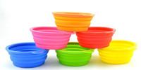 Wholesale Grade Fold Pet Bowl Folding Dog Bowl Pet Food Dish Pet Feeders