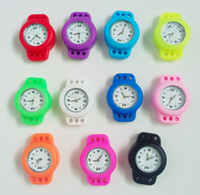 multicolor unisex  100 pcs lot rainbow Loom Quartz Silicone Watch for DIY Mix Color Loom Bands Watch