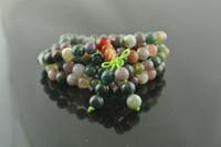 Wholesale Tibetan Mala Prayer Bracelets mm High Quality India Agate Stone Round Beads Fashion Jewelry