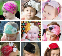 Wholesale children s Hair Accessories new kids take the lead flower feather hair ribbon hair bands dandys