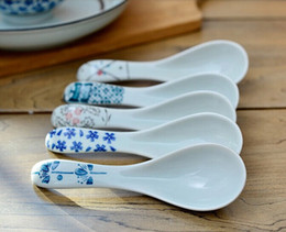 Wholesale Creative cm Porcelain Spoon Flatware Dinnerware for Wedding Gifts FF1402