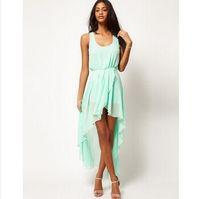 Maxi Dresses asymetric dress - woman love chiffon dress with asymetric style Dovetail Dresses
