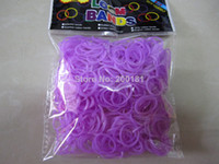 Stone Fashion Bracelets Wholesale-MN-Free shipping Rubber Bands loom bands kit glow in the Dark bands