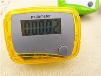 Pedometers Red  Best pocket LCD Pedometer Mini Single Function Pedometer Step Counter LCD Run Step Pedometer Digital Walking Counter Fast shipping