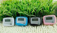 Wholesale Best pocket LCD Pedometer Mini Single Function Pedometer Step Counter LCD Run Step Pedometer Digital Walking Counter Promotion