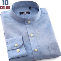 Wholesale 2014 new men s fashion shirt men solid color shirts Male Autumn Oxford Casual men long sleeve Cotton colors