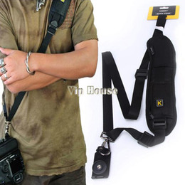New 2014 Neck Shoulder Strap Camera Single Shoulder Sling Black Belt Strap for SLR DSLR Canon Nikon Sony Cameras #010 14825
