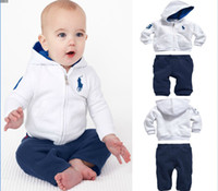 Unisex Spring / Autumn Long 5 pcs lot Fashion baby suit 2-piece set: long-sleeved hoodies +long pants Autumn baby sports suit xz0020