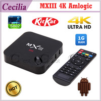 Quad Core Included 1080P (Full-HD) MXIII Amlogic S802 Android TV Box Smart TV Receiver IPTV Media Player 2.0GHz Quad Core Android 4.4.2 Octa Core GPU 4K 1G 8G XBMC
