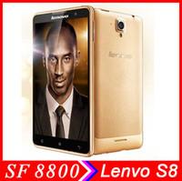 Wholesale Multi Langauge Original Lenovo S8 MTK6592 Octa Core phone IPS OGS Android phone MP GB RAM GB ROM TD SCDMA GSM Android