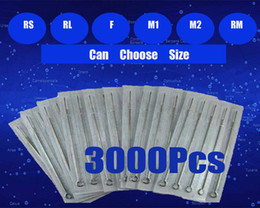 Wholesale 3000pcs Tattoos Sterilized Tattoo Needle Disposable Needles Kit Supply RL RS F RM M1 M2 Assorted