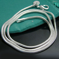 china christmas - Promotion Sale silver chain necklace Christmas fashion Silver mm Snake Chain inch necklace jewelry hot sale