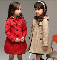 clothing manufacturers - Autumn New Children s Clothing Manufacturers Selling Coat Korean Of The Girls Single Breasted Paragraph Tench Coats Kids Long Jackets GX834