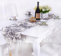 Wholesale Fashion Table runner Size x180CM quot quot Embroidery Cotton Fabric Wedding party decoration