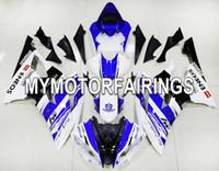 achat en gros de yzf r6 plastiques-Pour Yamaha YZF600 R6 YZF-R6 08 09 10 11 12 13 14 Injection ABS Carrosserie en plastique Mécanique Carrosserie Pièces moto Cowling MOTOGP 2014