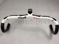 Wholesale 2014 NEW Arrival MOST Carbon fiber road glossy Black whitebicycle bike handlebar with