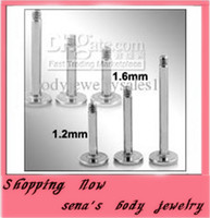 Wholesale L21 wholesales mix mm body jewelry lip piercing labret bar