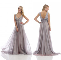 Wholesale 2015 Modest Elegant Appliques Beads Empire Waist A Line Sweetheart Sleeveless Floor Length D Chiffon Mother of the Bride Dresses