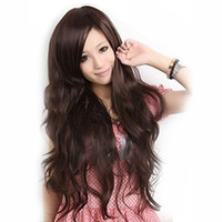 Wholesale Quality goods Color Stylish Lady Wavy Wigs lace Wig fashion style long cute large wavy wigs synthetic hair