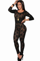 Bodysuits Polyester  Sexy Women Black Lace Nude Illusion Key-Hole Back Bodysuit Lady Shapers Underwear LC6283-2