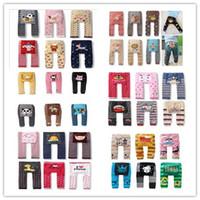 stripe pants - 2014 Hot Sale Korea Spring Autumn Smmer Winter Children Girls Boys All Match Casual Pants Stripe Grid Dot Cartoon Lovely PP Pants E0458
