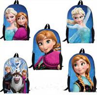 Wholesale Frozen Anna Elsa Backpacks Children s School Bags Kids Cute Cartoon Backpacks s and Girls Backpack School Bag designs by DHL