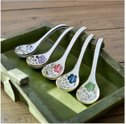 Wholesale National cm Ceramic Soup Ladle White Porcelain Dinnerware Household Supplies FF1403