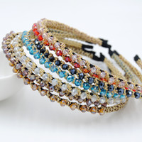 Headbands other Bohemian 2 yuan shop jewelry Korean version of high-grade crystal hair accessories hair bands handmade rhinestone tiara gold wire wrapped a generatio