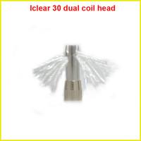Cheap Innokin dual coil head atomizer core for iclear 30 rebuildable atomizer clearomizer iTaste VV MVP SVD 134 E Cigarette