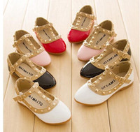 Wholesale 2014 New girls sandals children rivets pu shoes colors casual sandals for years girls
