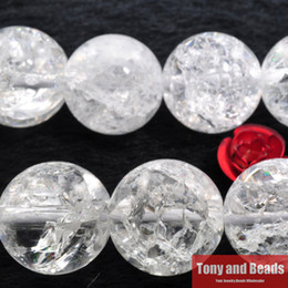 Free Shipping White Cracked Crystals Clear Quartz Loose Beads Frizzling Rock Popcorn Stone 16