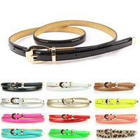 Wholesale 10pcs Lady Women Thin Skinny cm Wide Waist Belt Waistband Pu Leather Candy Color fx294