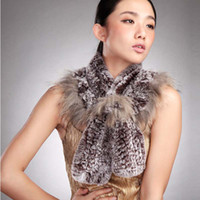 fur flower scarf - Warm Women s Raccoon Fur Scarves Shawl with Flower Flouncing Style HB38