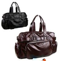 Shoulder Bags leather duffel bags - Fashion NEW Arrival European american Men s duffel bag faux leather luggage traveling large capacity handbag Black Coffee ZA0011 salebags
