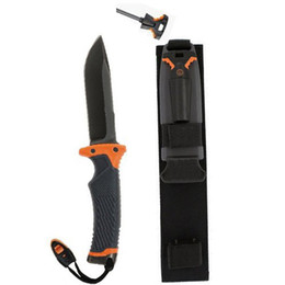 Wholesale BEAR Fixed blade knife MAN VS WILD SCOUT PRIORITIES OF SURVIVAL POCKET GUIDE camping knife EDC hunting knife