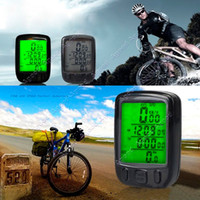 Wholesale Waterproof Bicycle Bike Cycle Wired LCD Digital Computer Speedometer Odometer Green LED Backlight B SV003378