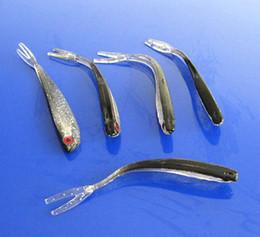 Poissons de silicone pour la pêche en Ligne-100mm Soft Silicone Tiddler Bait Fluke Poisson Pêche Eau de mer Fish Lure Oeil rouge big snakehead fish isch