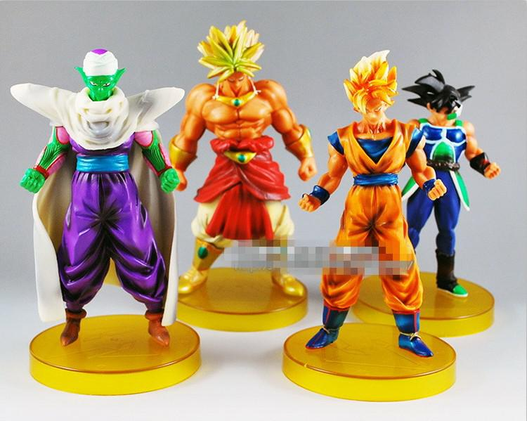 Buy Japanese Anime Cartoon Dragon Ball Z Action Figures PVC Toys Doll Model Super Saiyan Goku Collection Gifts DHL