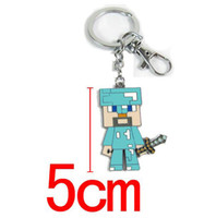 Anime Games Minecraft Key Chains Metal Figures Pendants keyc...
