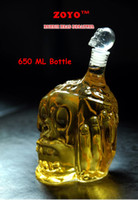 Other glass wine bottle - New Arrvial ml Big Size Zombie Glass Decanter Zombie Red Wine Whisky Bottle Skull Bottle