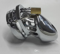 Male Chastiy Belt  2014 Newest Male Chastity belt Stainless Steel Cock Cage For Man Metal Bondage Device with Spike Ring Chastity Devices Cock Cage For Man