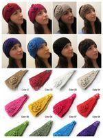 headbands choose colors and write in order Headbands Xmas christmas hot ! Europe fashion women's Wool headband hair band teenager girl's crochet knitted wide Headbands Girls Hair Accessories
