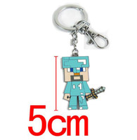 High Quality Anime Games Minecraft Key Chains Metal Figures ...