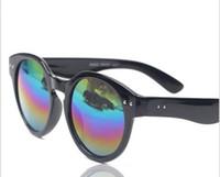 PC Sports Wayfarer wholesale spot color reflective lens sunglasses Round sunglasses wild fashion sunglasses