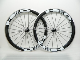 Wholesale New arrival HED Carbon Road Bike Wheels mm White Logo aluminium carbon wheels with powerway hub