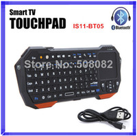Wholesale Mini Portable IS11 BT05 Wireless Bluetooth Keyboard with Fly Air Mouse Touchpad for Tablet Windows Android Smart TV Box iOS