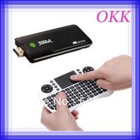 Wholesale Quad Core Mini PC TV BOX stick MK802 IV Rikomagic MK802IV Android RK3188 GB RAM GB ROM Rii i8 fly air mouse touchpad